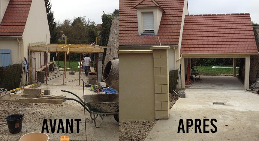 Toit AVANT / APRES
