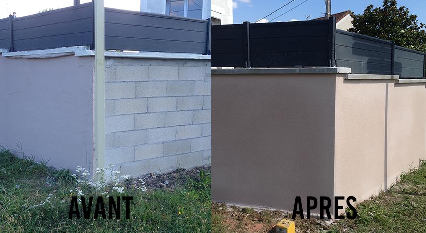Mur AVANT / APRES